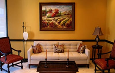 Waiting area at the office of Alexandra Garcia, DDS, MS